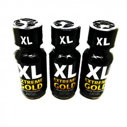 XL Extreme Gold 25ml Poppers x 3