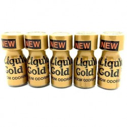 Liquid Gold 10ml Poppers x 5