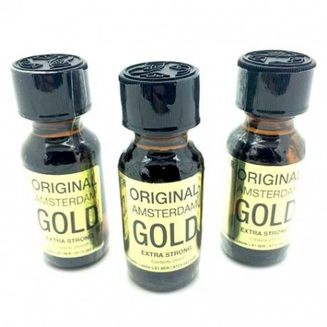 Original Amsterdam Gold Poppers x 3 - from UK Poppers online