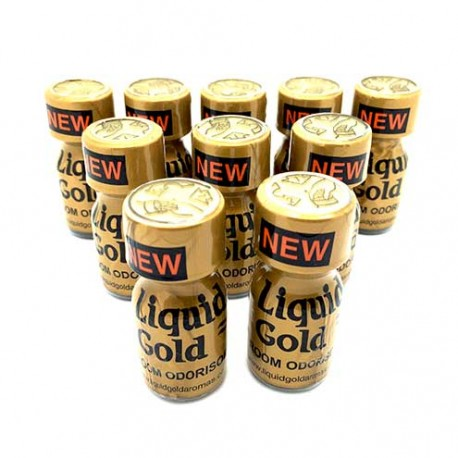 Liquid Gold Poppers x 10 - uk poppers online cheap