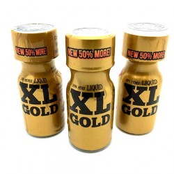 XL Gold 15ml Poppers x 3
