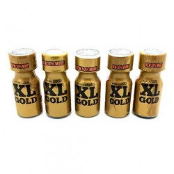 XL Gold 15ml Poppers x 5
